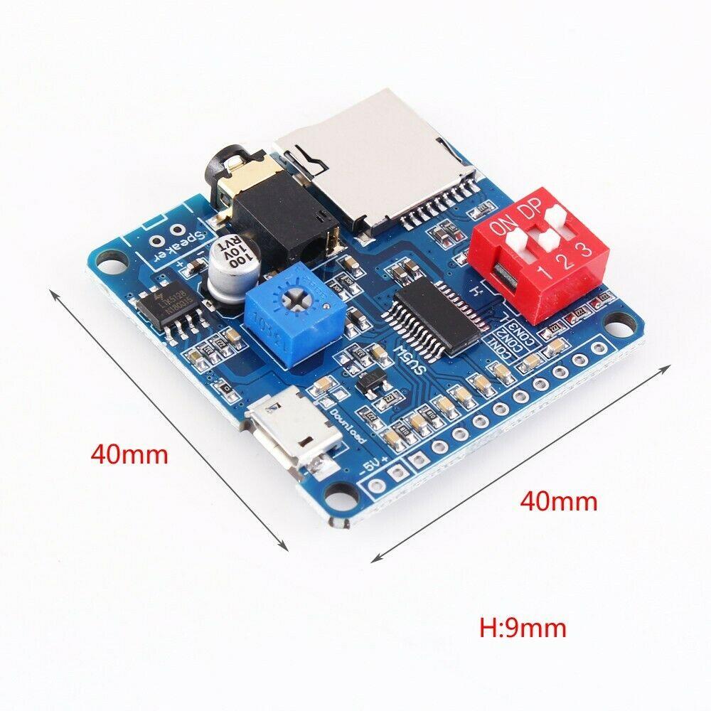 Lecteur MP3 voix lecture Module I//O Trigger UART Control SD//TF Carte Pour Arduino
