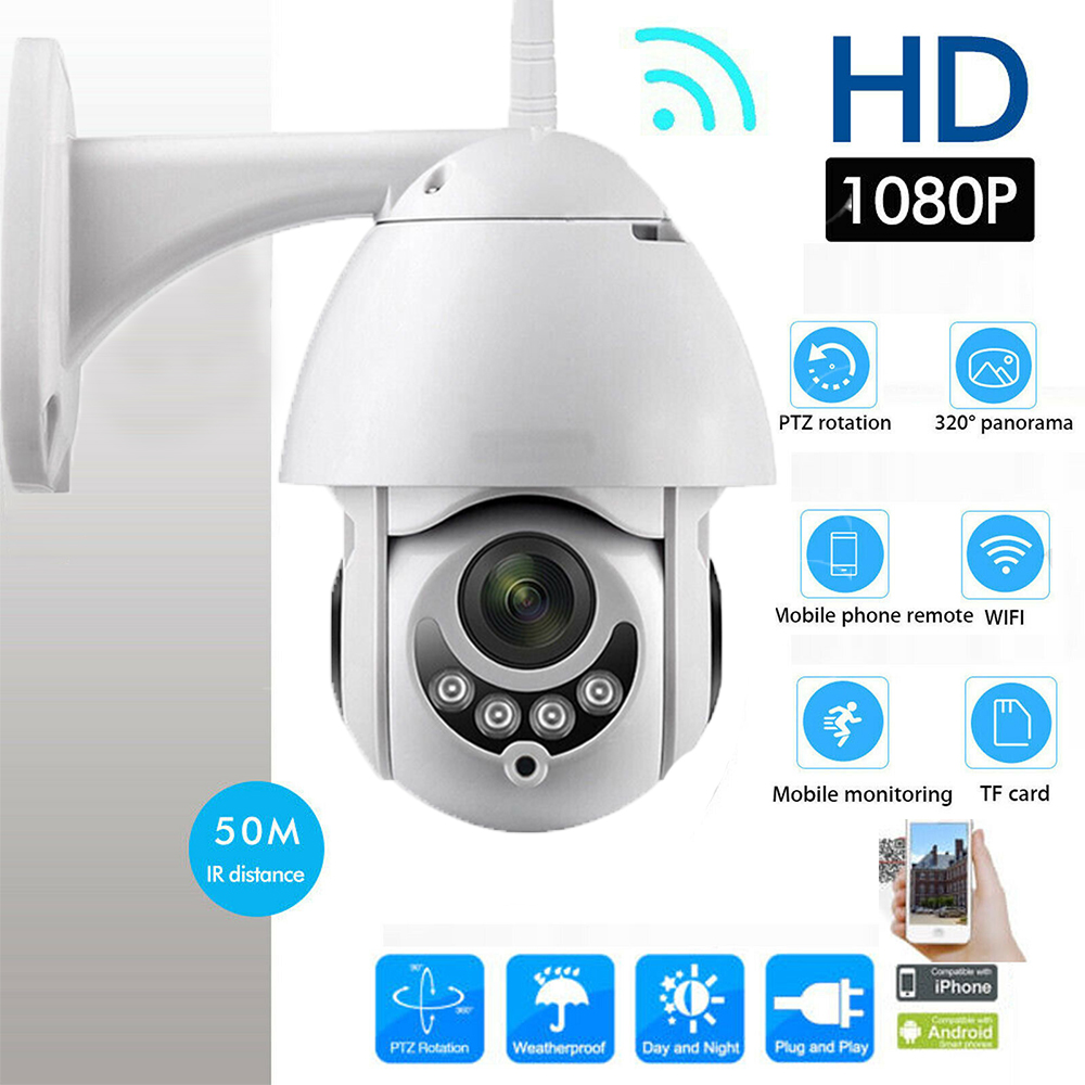 Details about 4LED Wireless Outdoor HD 1080P 2MP PTZ WIFI IP Camera Night  Vision Home Security