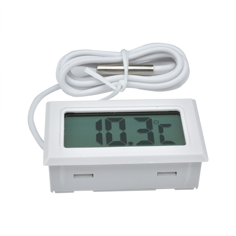Digital LCD Display Thermometer Gauge Temperature Probe Embedded Thermograph
