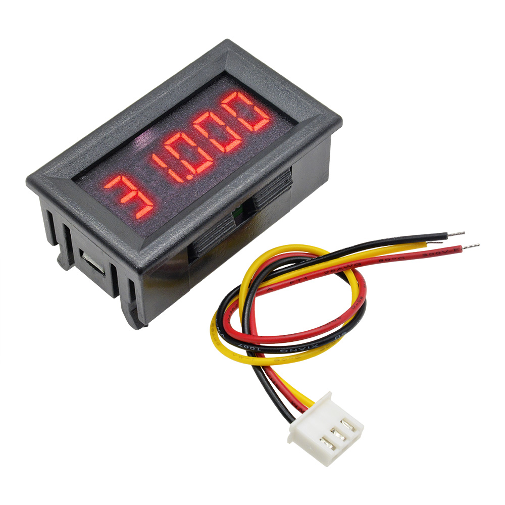 Red 5 Digit DC 0-4.3000-33.000V Digital Voltmeter Voltage Metre Car Panel