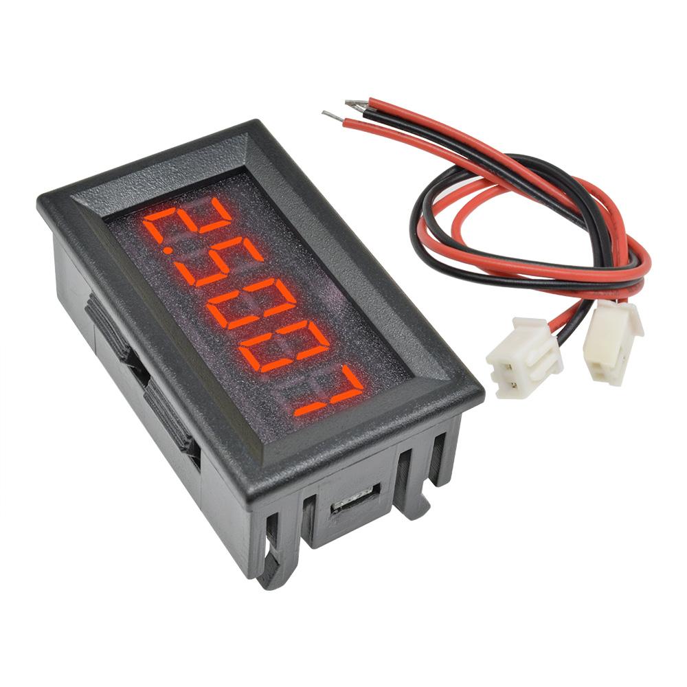 5Pcs Red Led 5 Digit Dc 0-4.3000-33.000V Digital Voltmeter Voltage Meter New ve