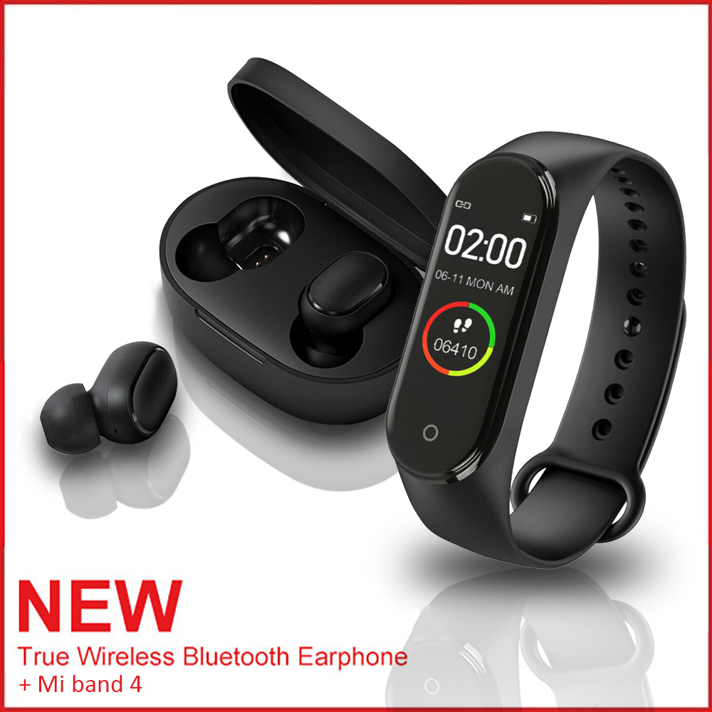 For Redmi Wireless Tws True Headset Bluetooth 5 0 Earphone M4 Smart Sport Watch Ebay
