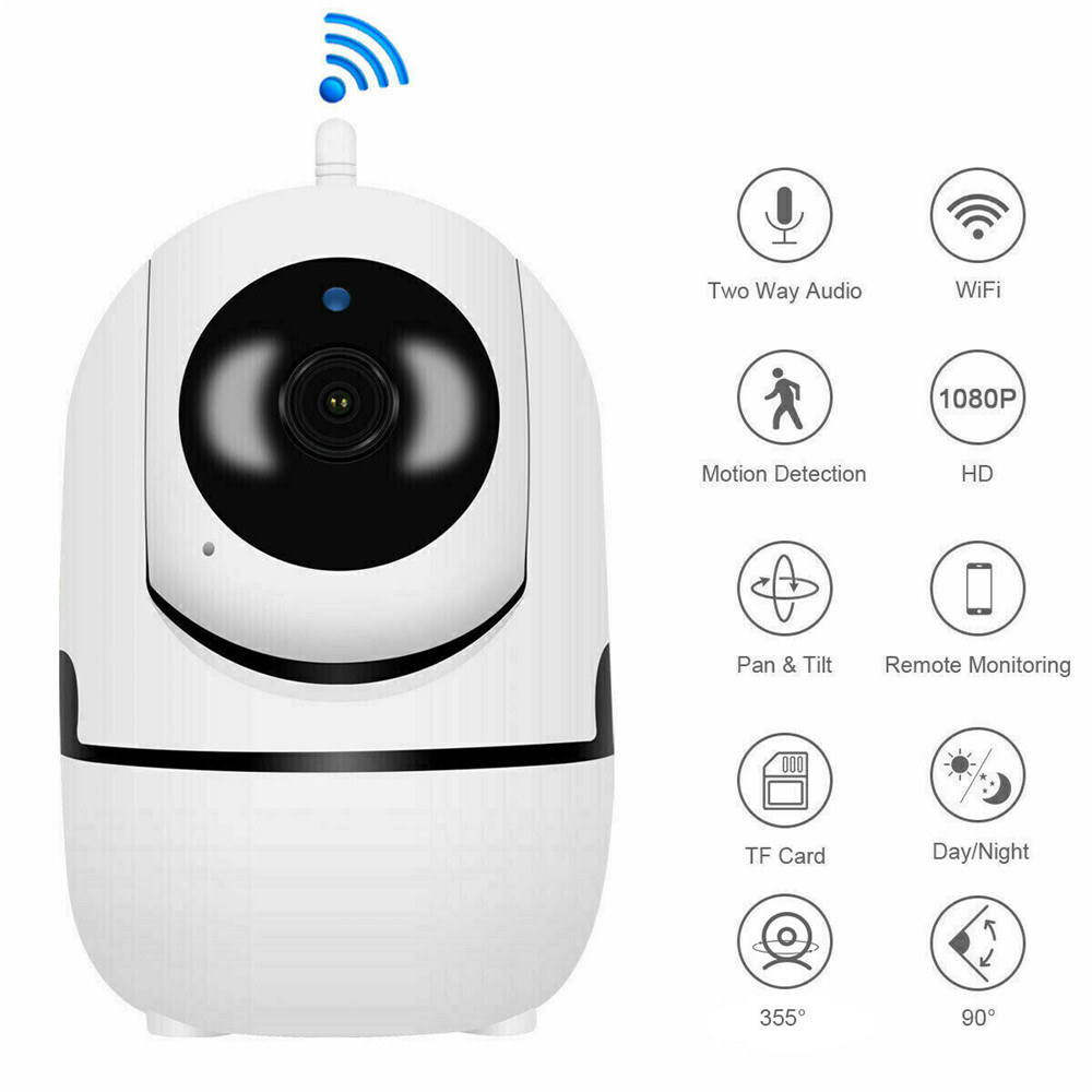 1080P Video Baby Monitor Wireless 2.4G WiFi Security IP Camera Two-Way Audio