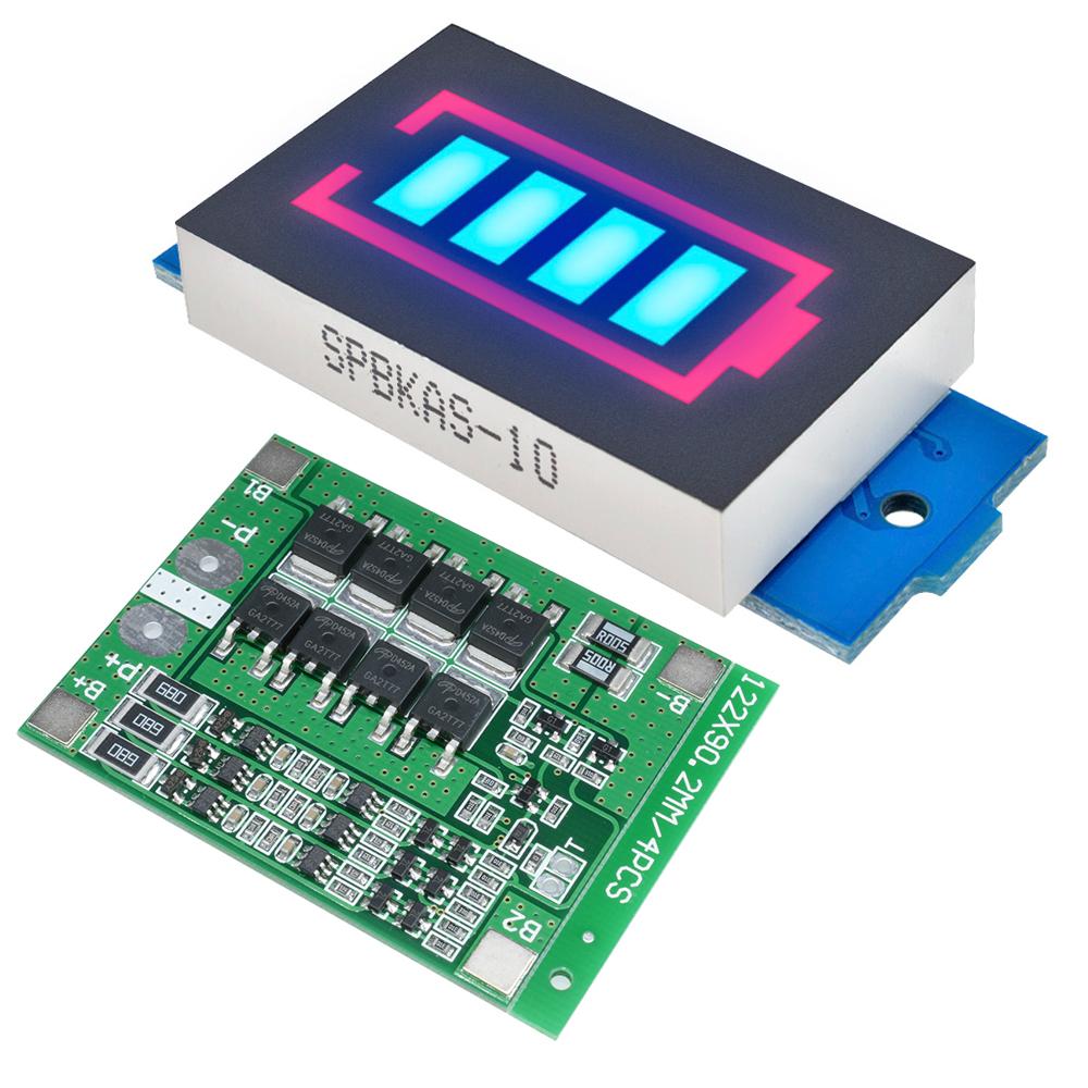 3S 25A 18650 Li-ion Lithium Battery Capacity Indicator Power Tester 11.1V 12.6V