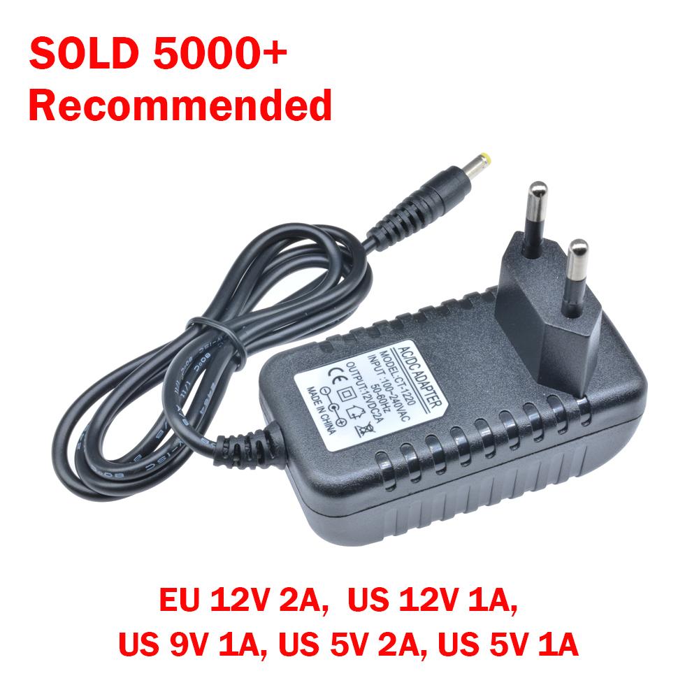 Eu Us Plug Ac 100 240v To Dc12v 9v 5v 1a 2a Power Supply Converter Led Light D Ebay