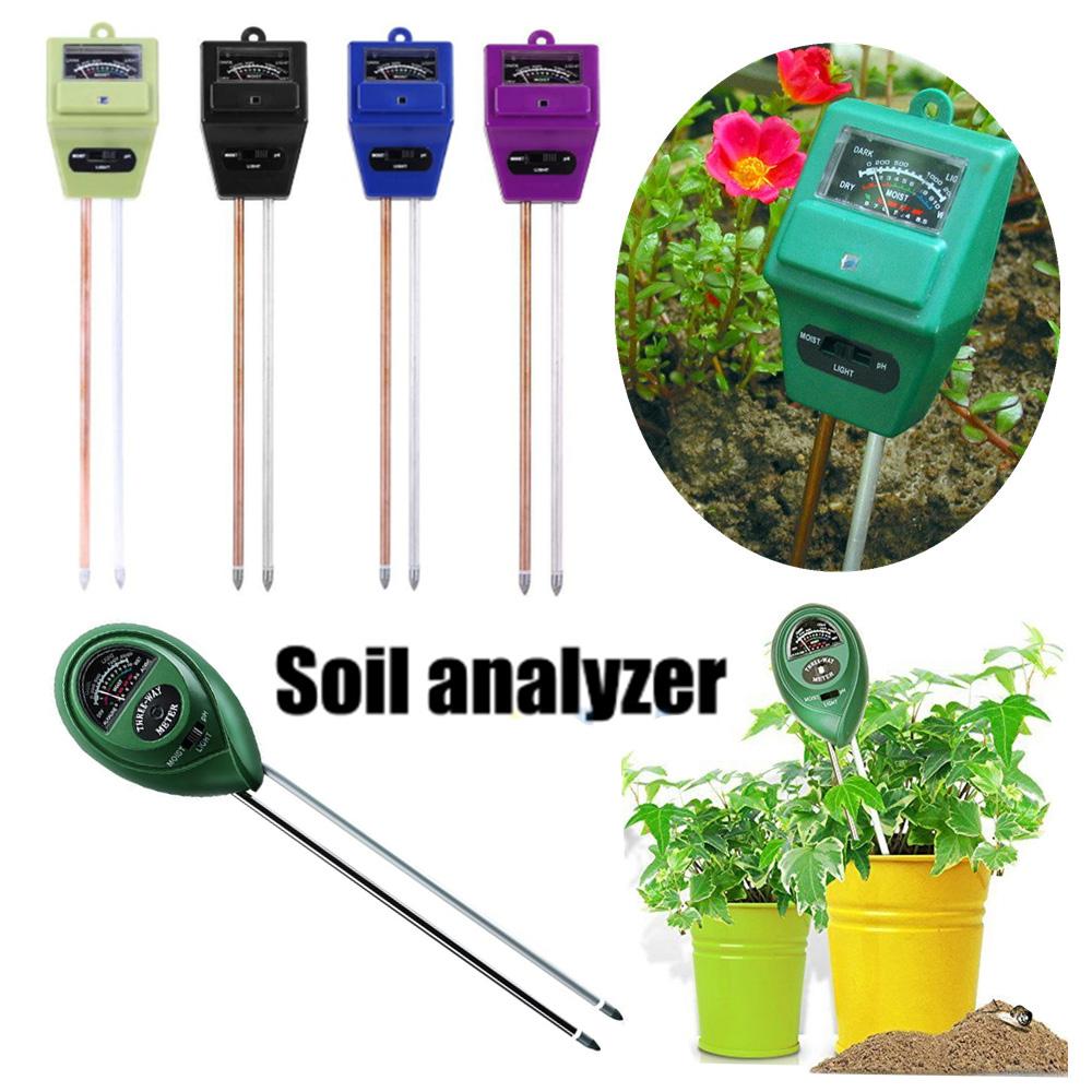 3in1 Soil Moisture Sunlight PH Meter Tester Plant Digital Analyzers