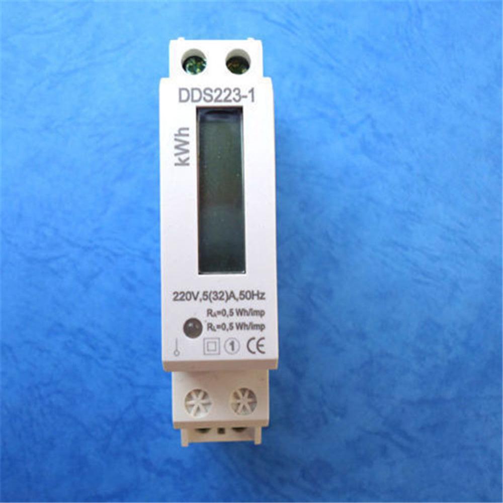 Digital LCD Display 230v AC DIN Rail Electric meter Kilo watt Hour KWH Meter
