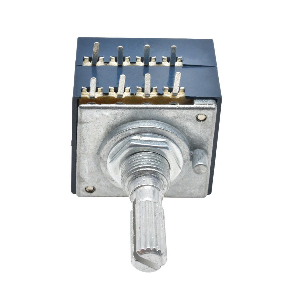 1Pcs potentiometer 50K log alps audio amp volume control pot stereo w loudnes EC