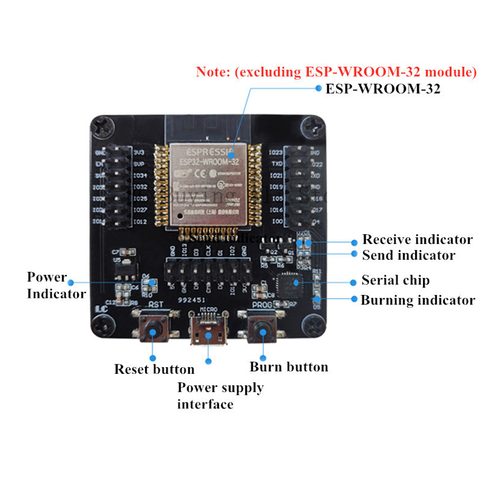 ESP32 Test Board Burner Fixture Development Board ESP-WROOM-32 Module ESP8266