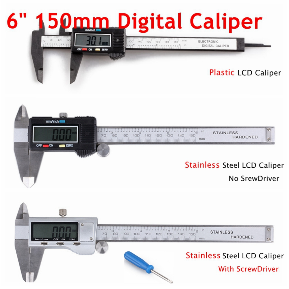 "6/""//150mm High-carbon Steel Vernier Caliper Gauge Micrometer Measuring Tool"