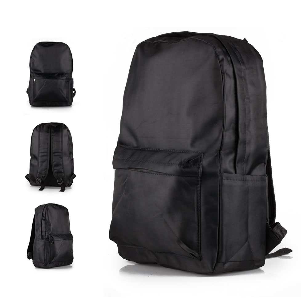Mens Boys Black Large Backpack Rucksack Bag Sport Hiking School Work Travel UK