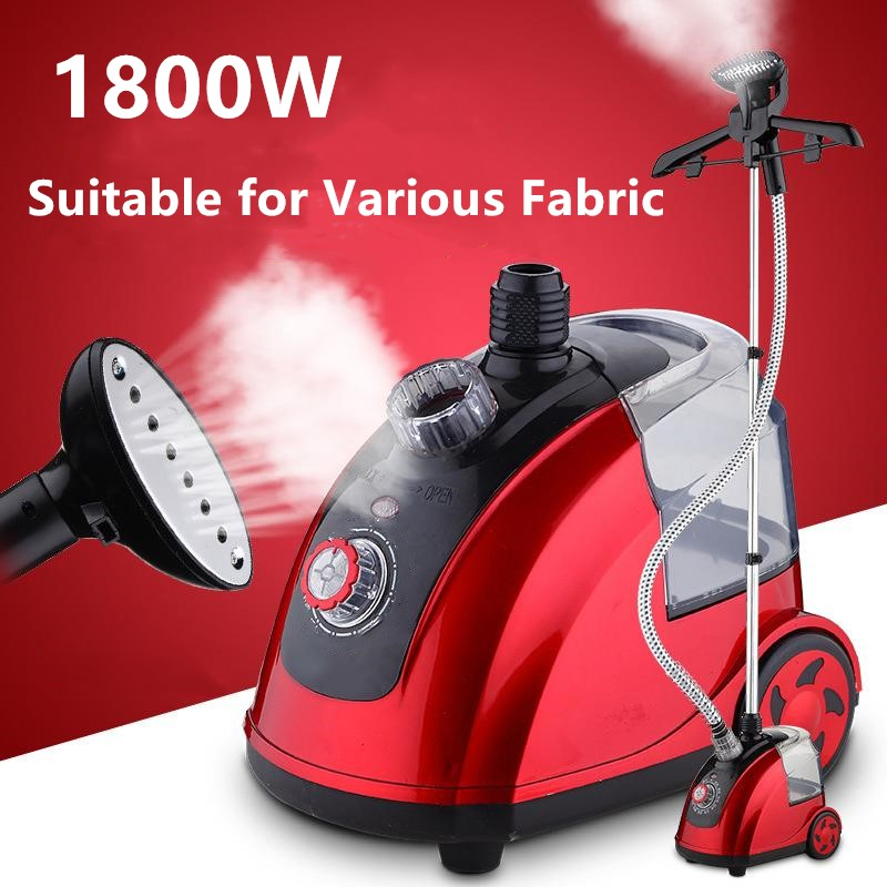 Profesional Garment Steamer 1800W Fabric Curtain Silk Clothes Iron Heat Brush