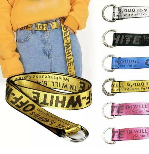 130//150cm Off White Yellow Belt Vetements Gosha Rubchinskiy Nylon UK New Unisex
