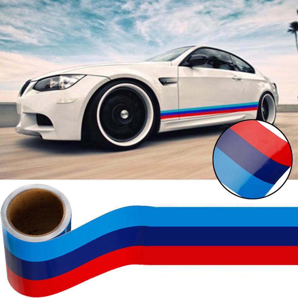 M-Colored Stripe Sticker car Vinyl Decal For BMW M3 M4 M5 M6 3 5 6 7 Series