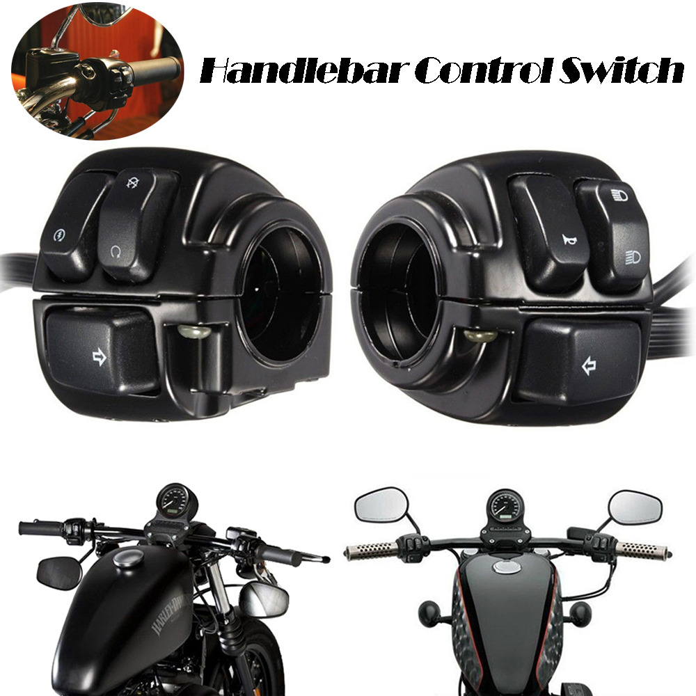 """1 Pair Motorcycle 1/"""" 25mm Handlebar Control Switch For Harley-Davidson"""