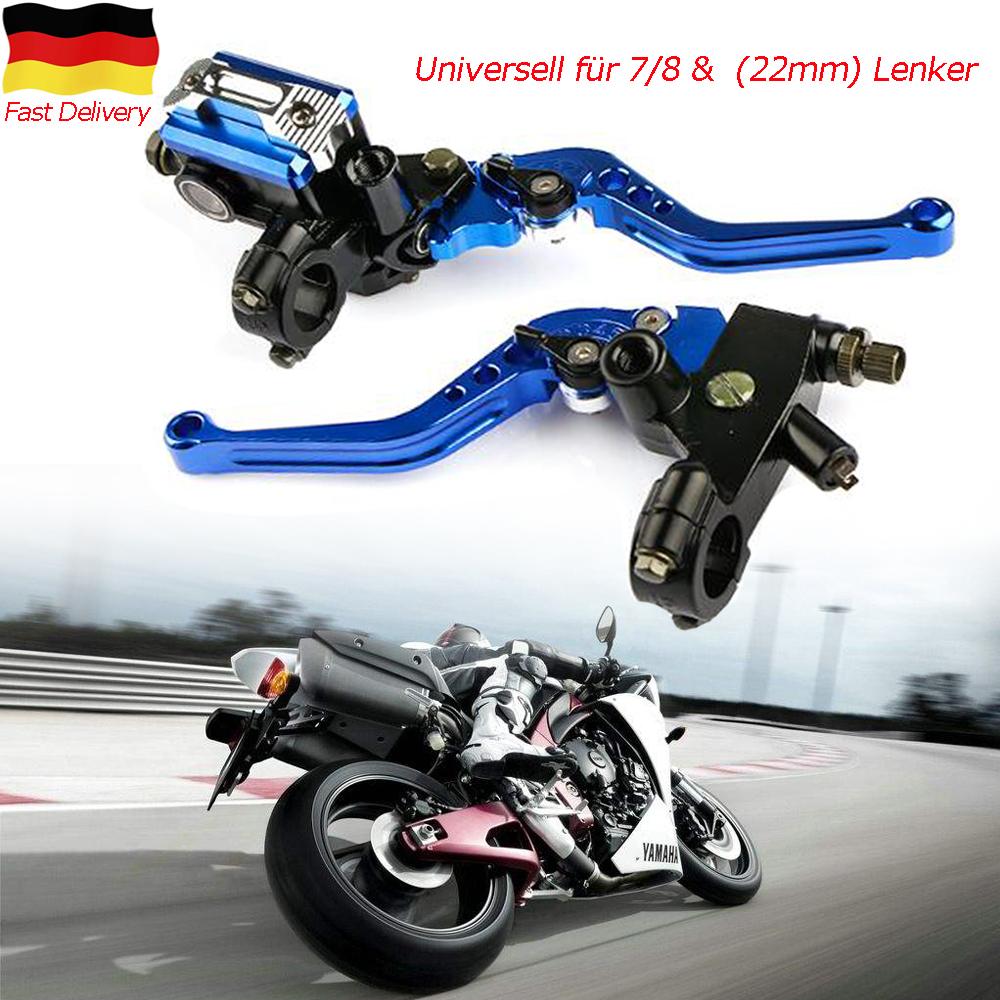 Broco 7//8/' /'22mm CNC-Motorrad-Bremsen-Kupplungs-Hebel-Schutz-Kit Lenker Proguard