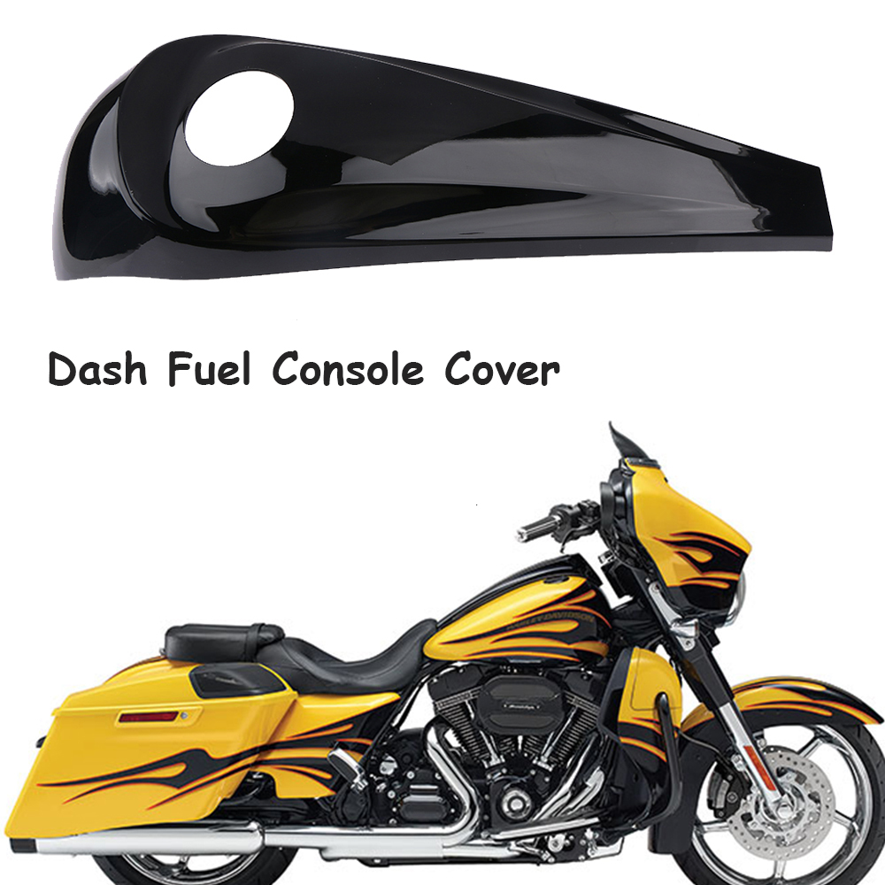Smooth Dash Console Cover Fuel Gas Tank Cap For Harley Street Electra Road Glide