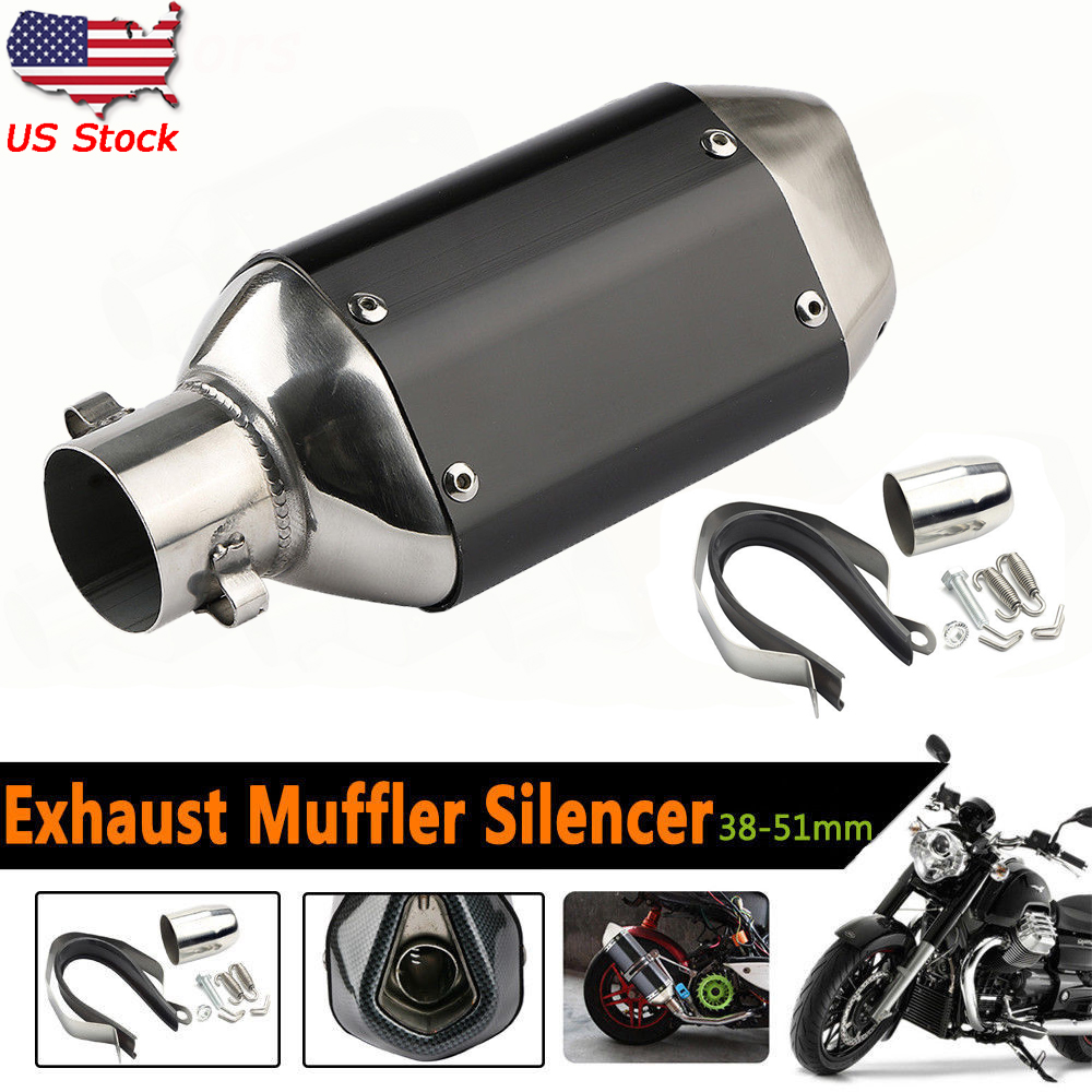Universal Motorcycle Short Exhaust Muffler Silencer Slip On
