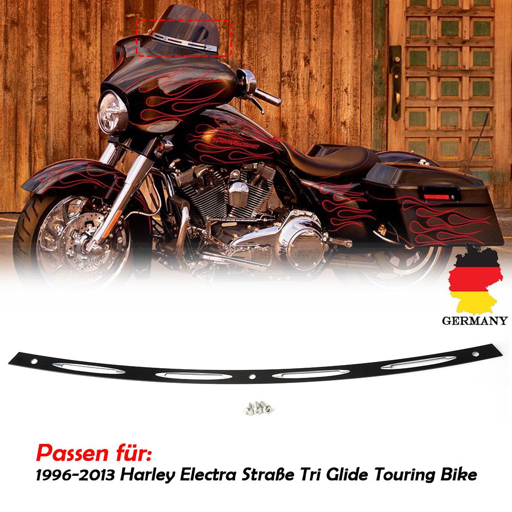 """4.5/"""" Windschutzscheibe Windschild Schwarz Für Harley Touring Electra Glide 14-17"""