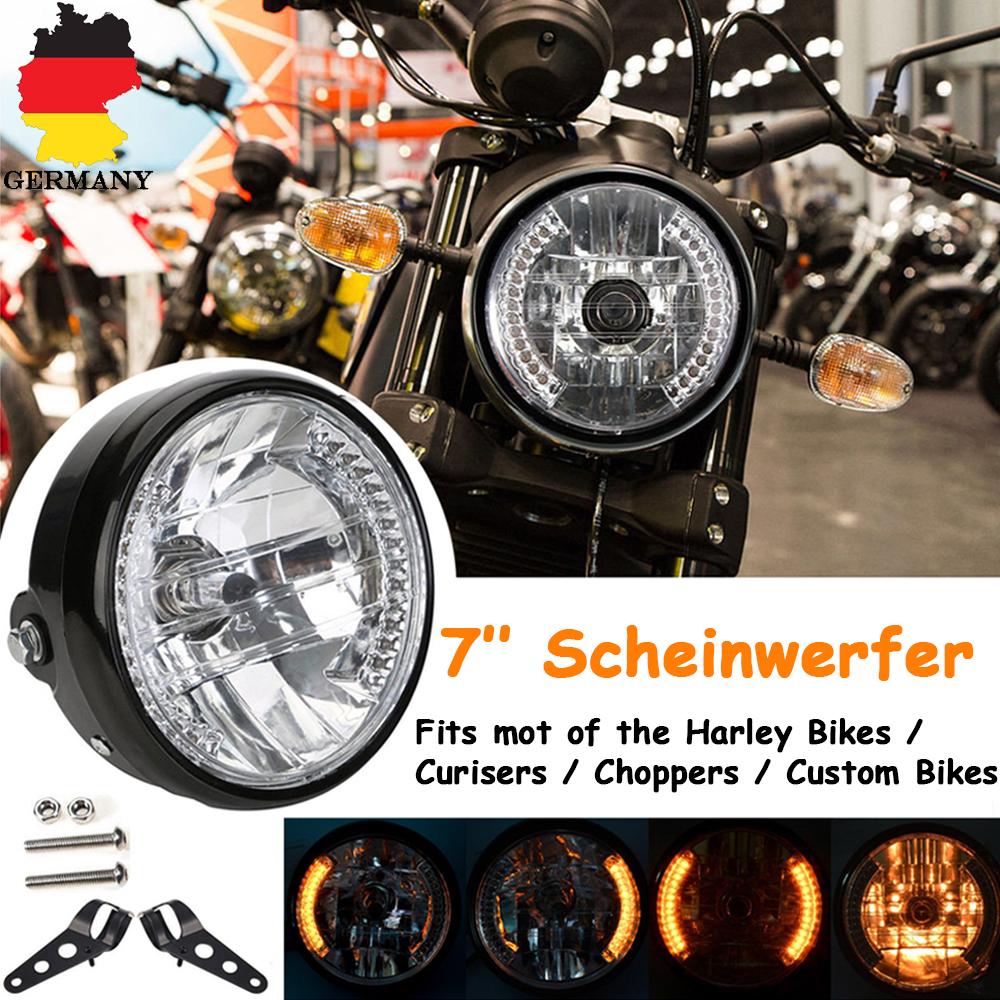 2x Chrom 33-45mm Motorrad Scheinwerferhalter Lampenhalter Scheinwerfer Halterung