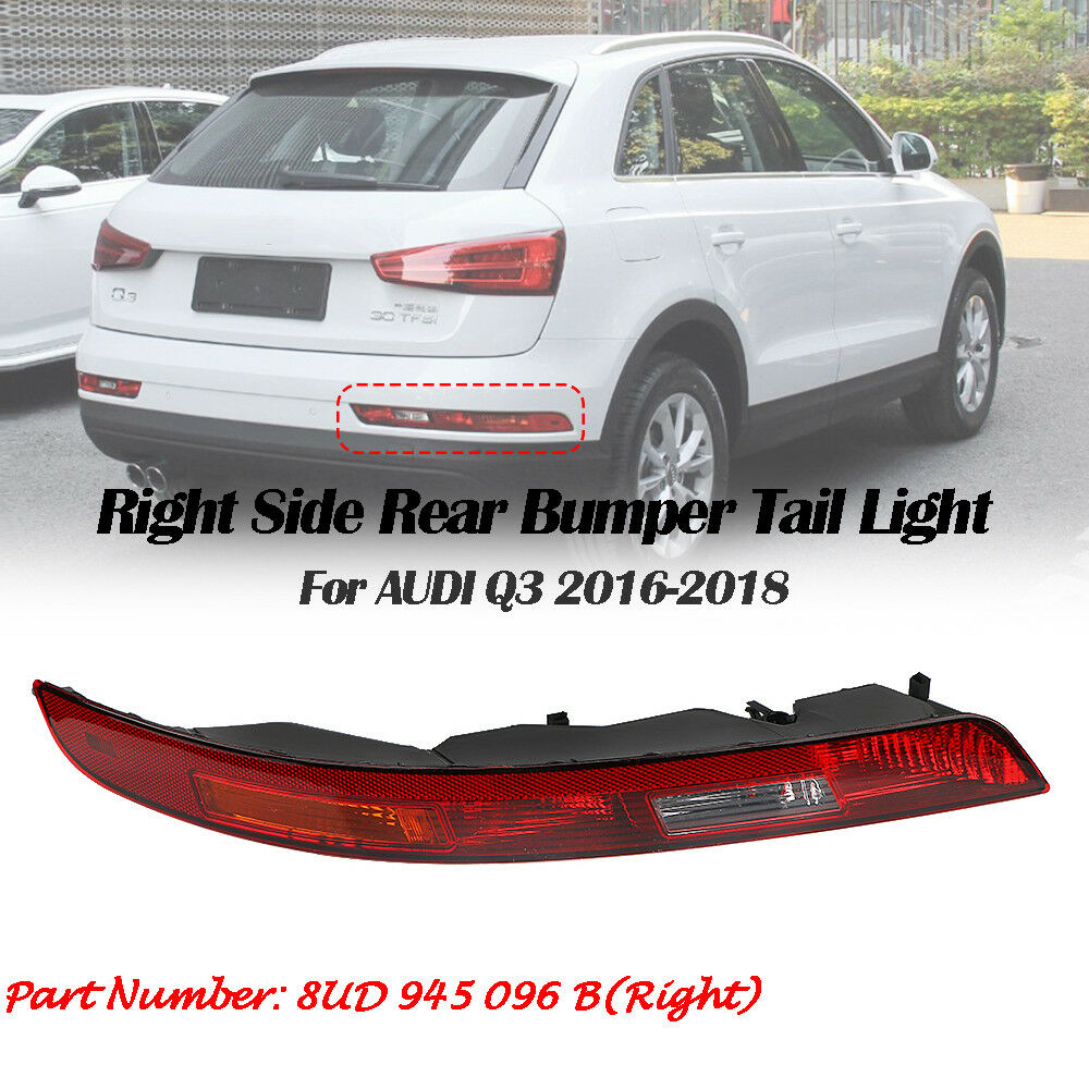 Right Rear Bumper Lower Tail Light Reverse Stop Lamp For AUDI Q3 SUV 2016-2018
