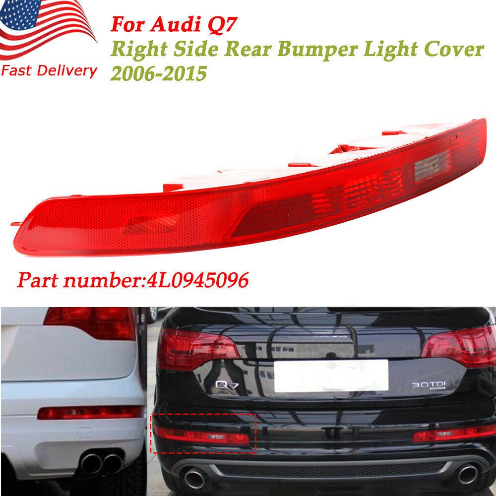 For 2006-2015 Audi Q7 Red Lens Bumper Reverse Tail Fog Light Lamp Rear Left Side