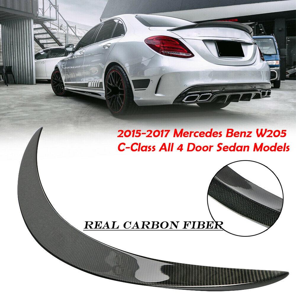 Carbon Fiber Highkick Trunk Spoiler Wing For 2015-17 Mercedes Benz W205 C63 AMG