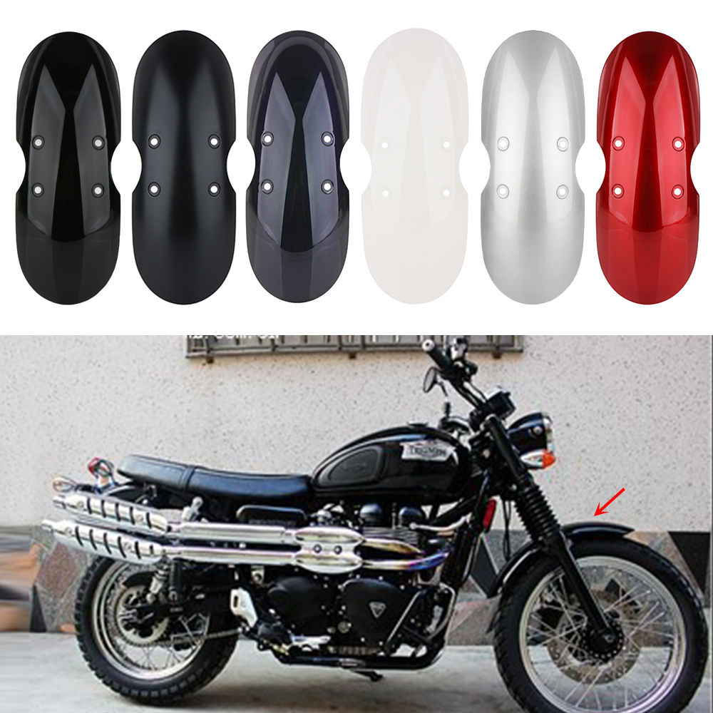 AKDSteel Motorcycle Mud Guard Short Front Splash Guard for Victory Bonneville T100 Scrambler Thruxton 90 01-16 red Practical Durable Auto Accessory