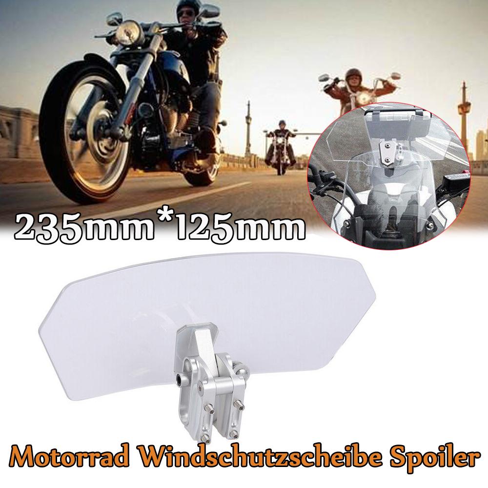 Motorrad Windabweiser-Motorrad Universal Verstellbare Windschutzscheibe Windabweiser Windschutzscheibe f/ür Kawasaki Honda