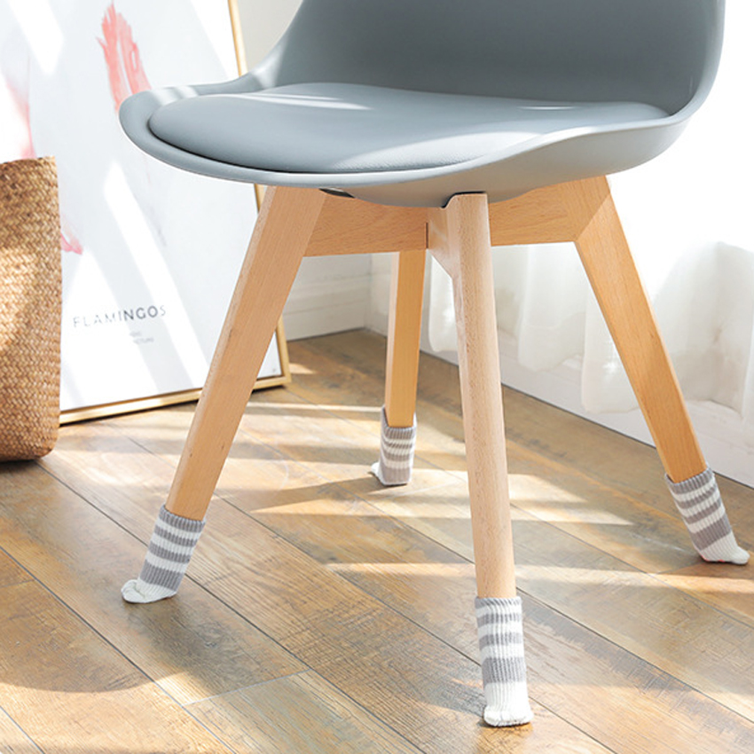 2pc Durable Table Chair Foot Leg Knit Cover Protector Socks Sleeve Protect Floor