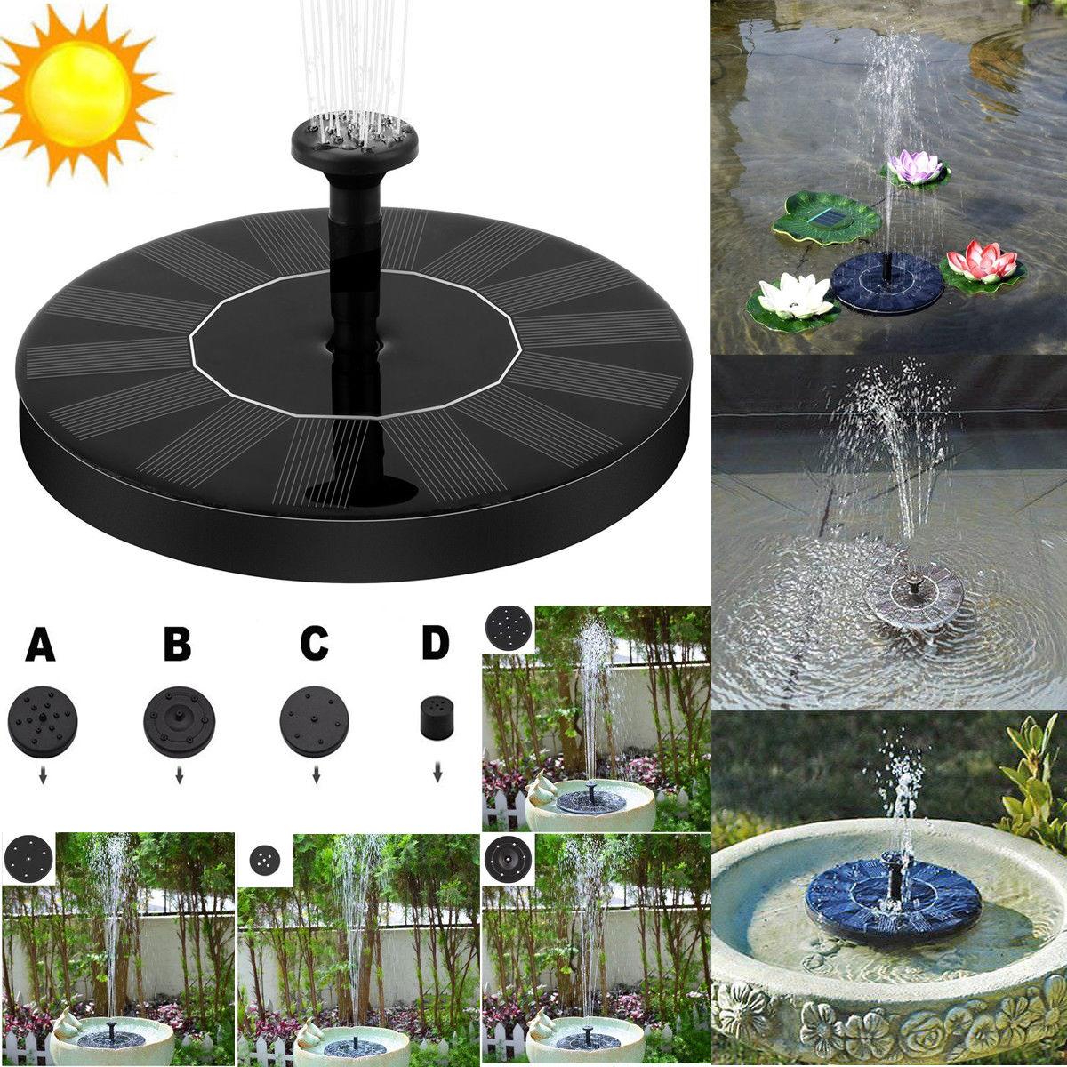 Solar Power Fountain Pool Water Pump Panel Garden Plants Watering Garden Outdoor