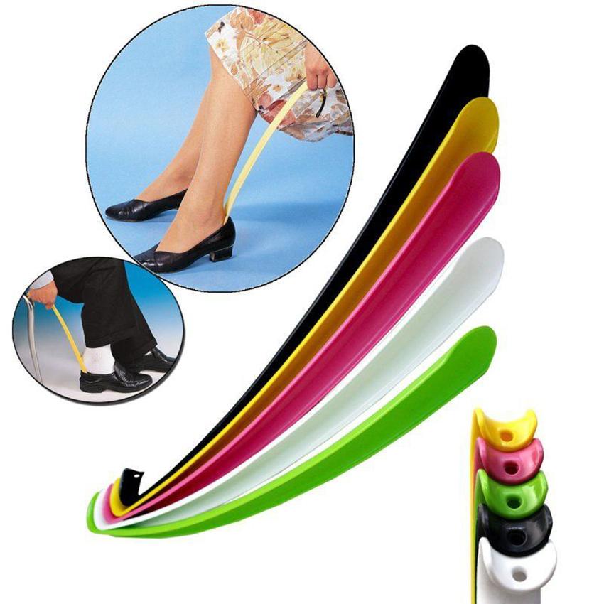42cm Durable Long Handle Shoehorn Shoe Horn Lifter Disability Aid-Flexible New
