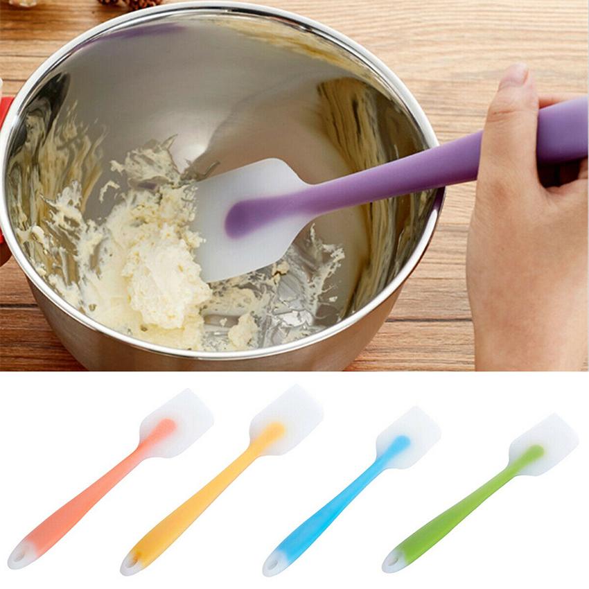 UK/_ Silicone Cake Cream Spatula Mixing Scraper Brush Spoon Kitchen Baking Tool