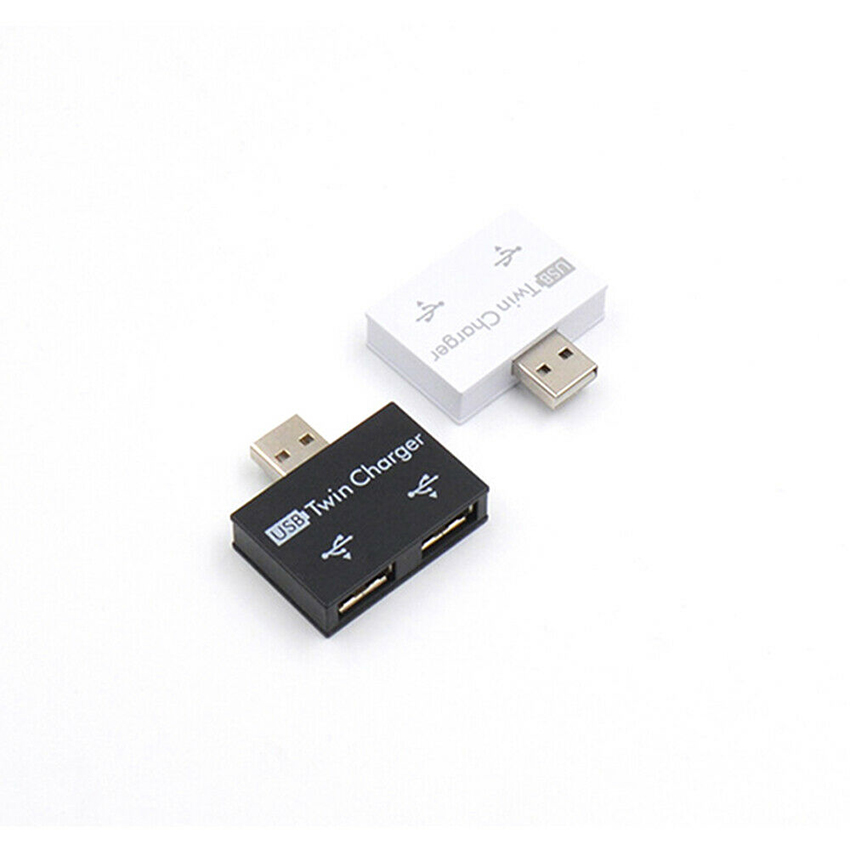 USB 2.0 Male to Twin Charger Dual 2 Ports USB Splitter Hub Adapter Converter Kit