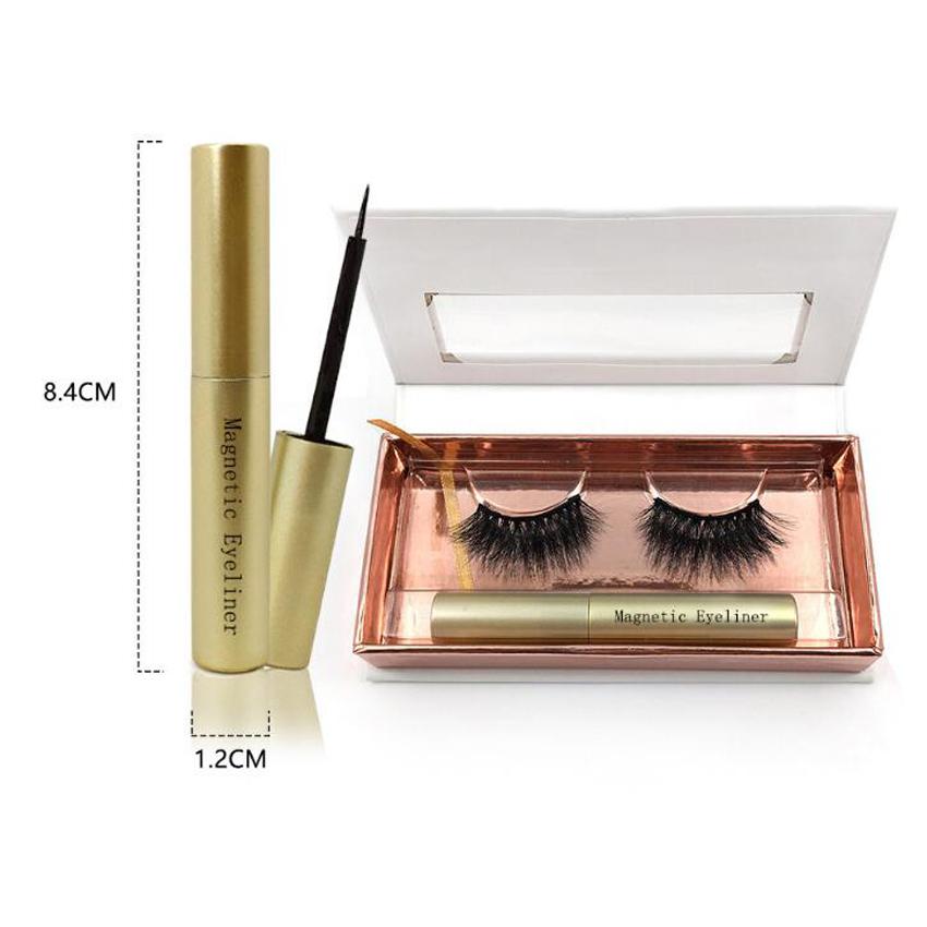 Liquid Eyeliner With Waterproof Three-Magnetic Extension False Eyelashes Lashes 4