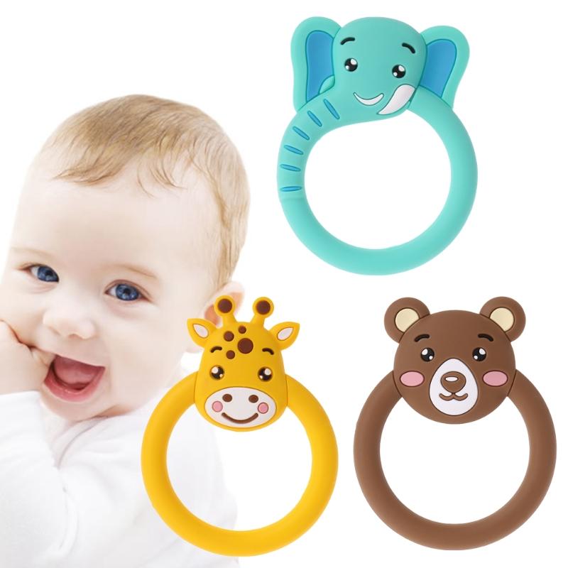 Baby Teether Pacifier Cartoon Bear Teething Nursing Silicone Toys LA