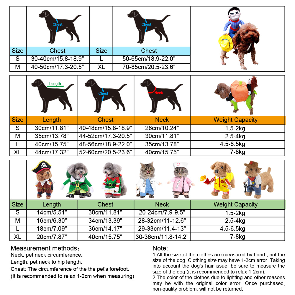 PET DOG CAT CHRISTMAS HALLOWEEN SHOW PARTY FANCY DRESS COSTUME OUTFIT CLOTHES 14