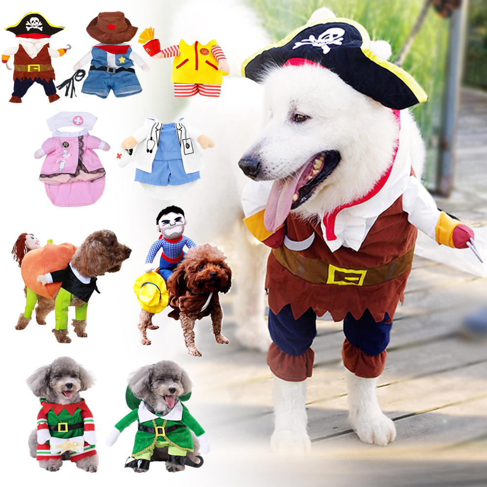 PET DOG CAT CHRISTMAS HALLOWEEN SHOW PARTY FANCY DRESS COSTUME OUTFIT CLOTHES 3