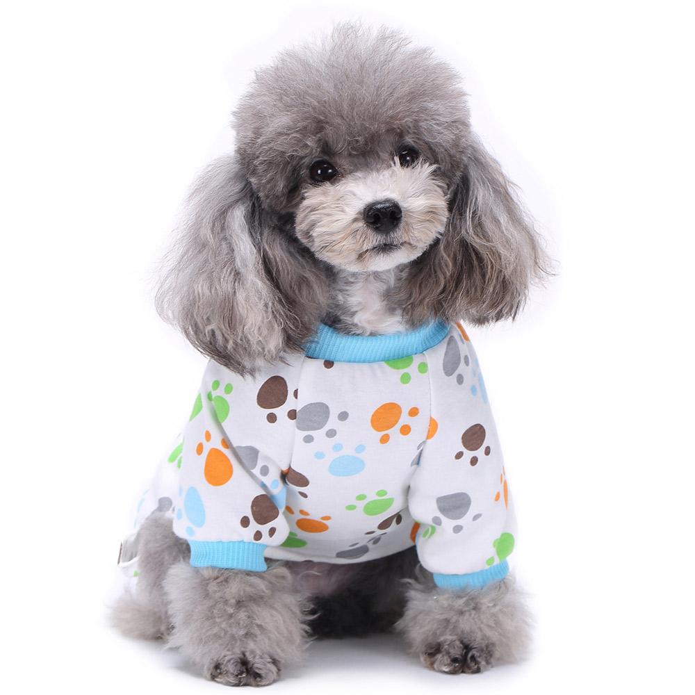 Pets Dog Cartoon Pattern Pajamas Puppy Clothes Jumpsuit Apparel Sleepwear PJS 5