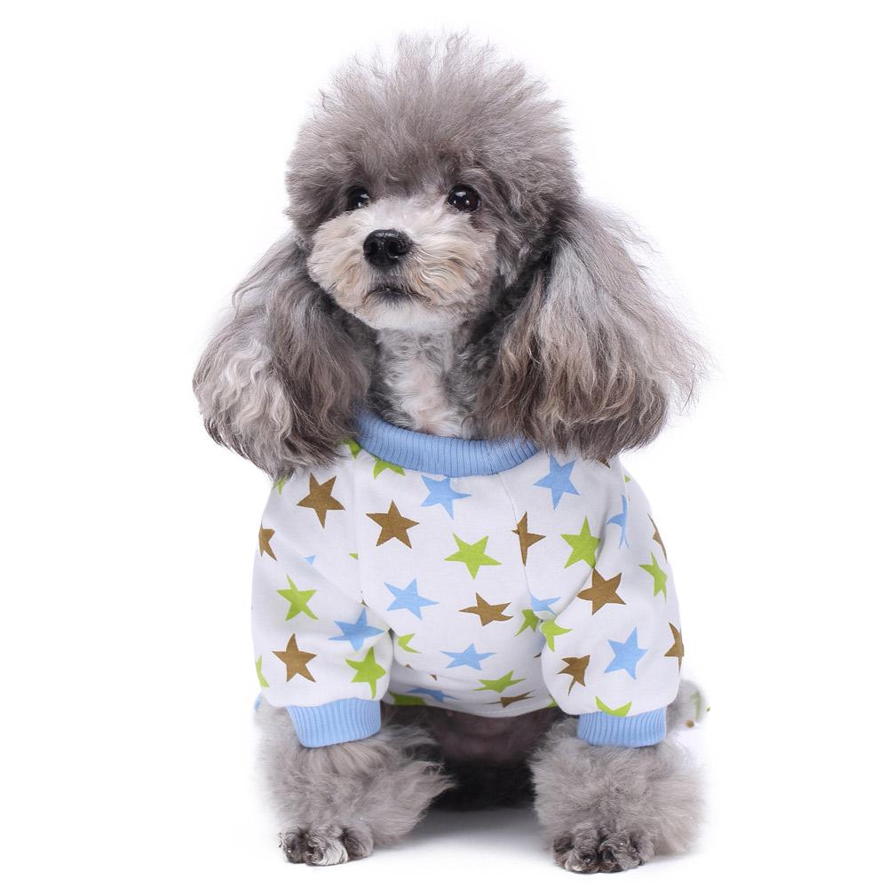 Pets Dog Cartoon Pattern Pajamas Puppy Clothes Jumpsuit Apparel Sleepwear PJS 11