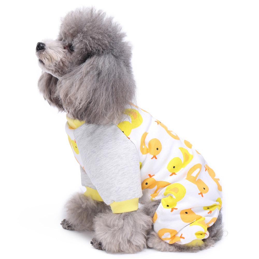 Pets Dog Cartoon Pattern Pajamas Puppy Clothes Jumpsuit Apparel Sleepwear PJS 8