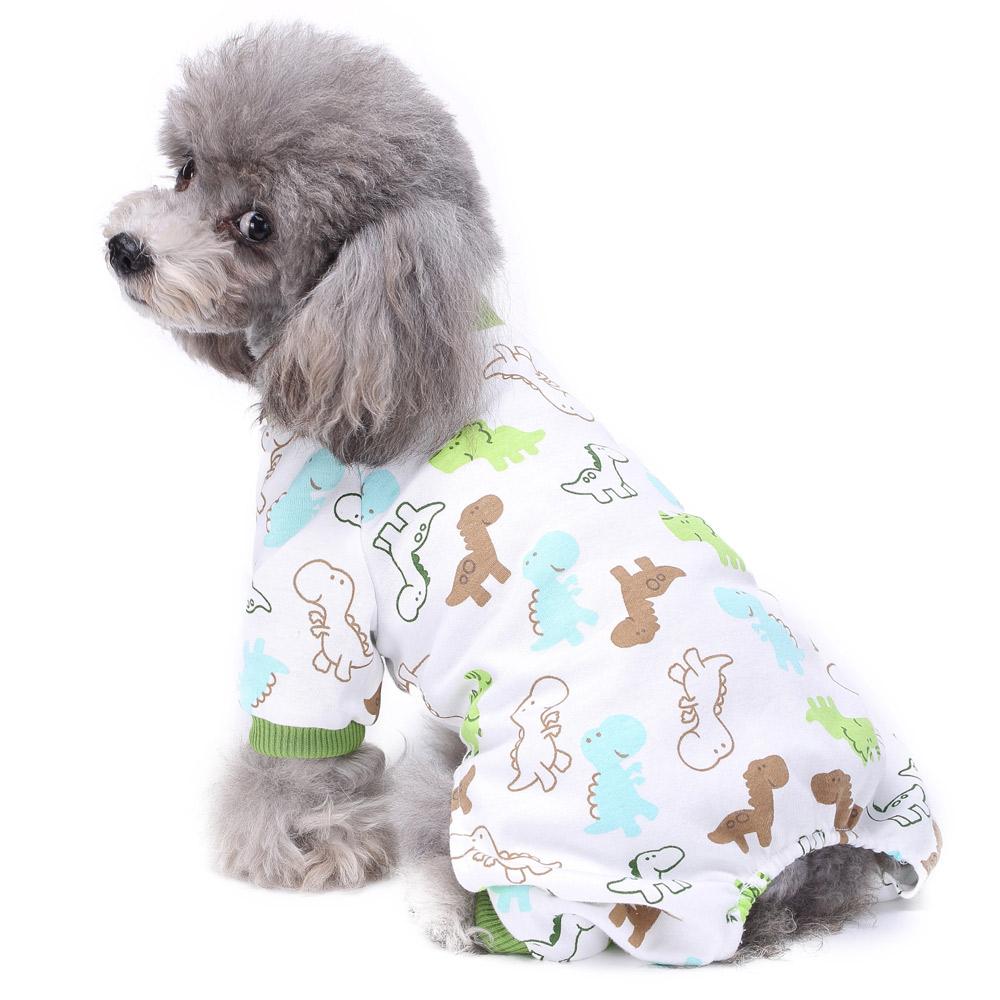 Pets Dog Cartoon Pattern Pajamas Puppy Clothes Jumpsuit Apparel Sleepwear PJS 7