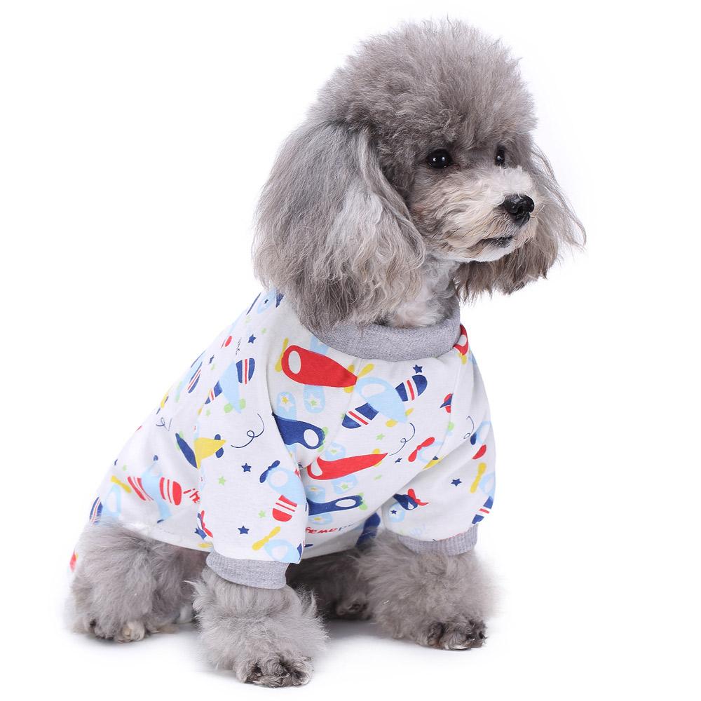 Pets Dog Cartoon Pattern Pajamas Puppy Clothes Jumpsuit Apparel Sleepwear PJS 9