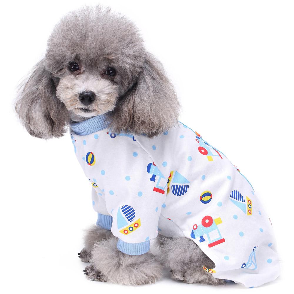 Pets Dog Cartoon Pattern Pajamas Puppy Clothes Jumpsuit Apparel Sleepwear PJS 13