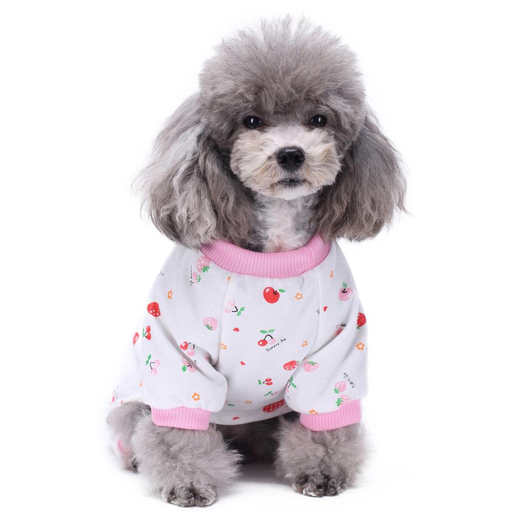Pets Dog Cartoon Pattern Pajamas Puppy Clothes Jumpsuit Apparel Sleepwear PJS 12
