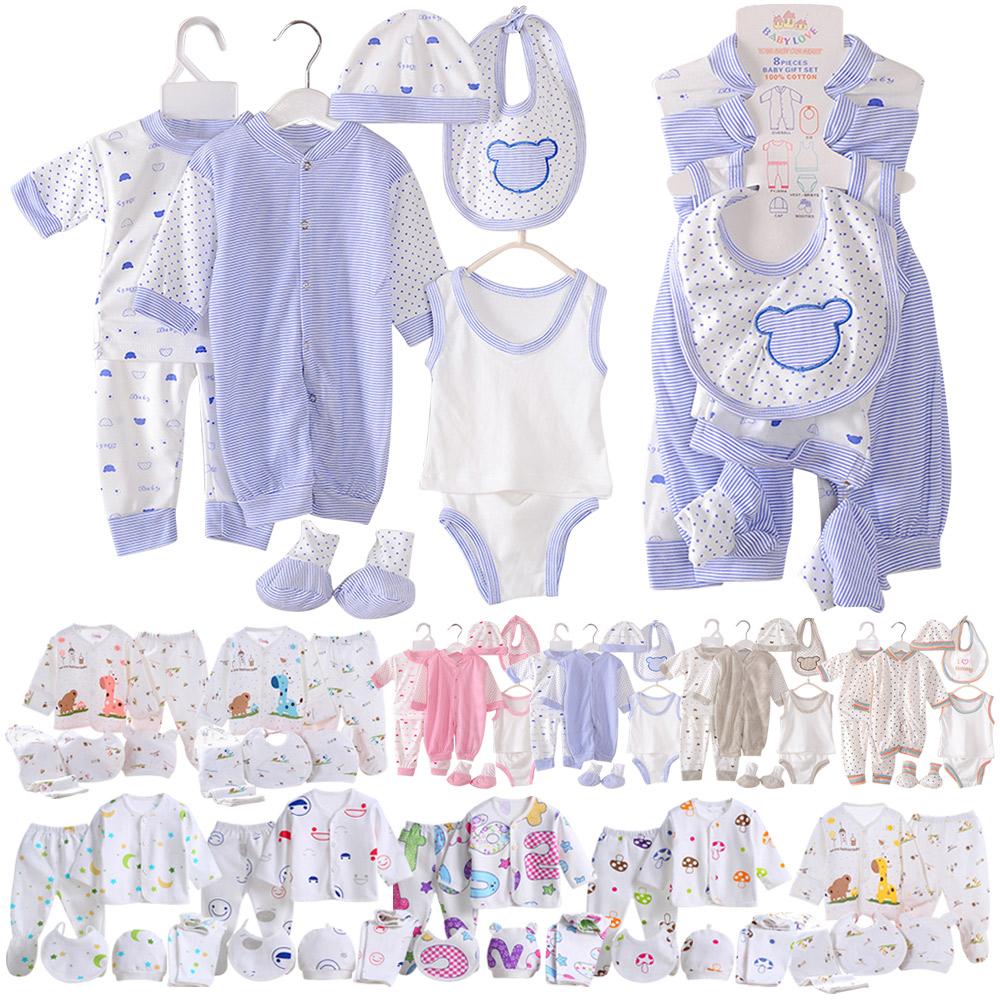 c8fb7988164 8pcs 5pcs Newborn Baby Clothes Unisex Infant Outfits Layette Set With  Stripe Dot