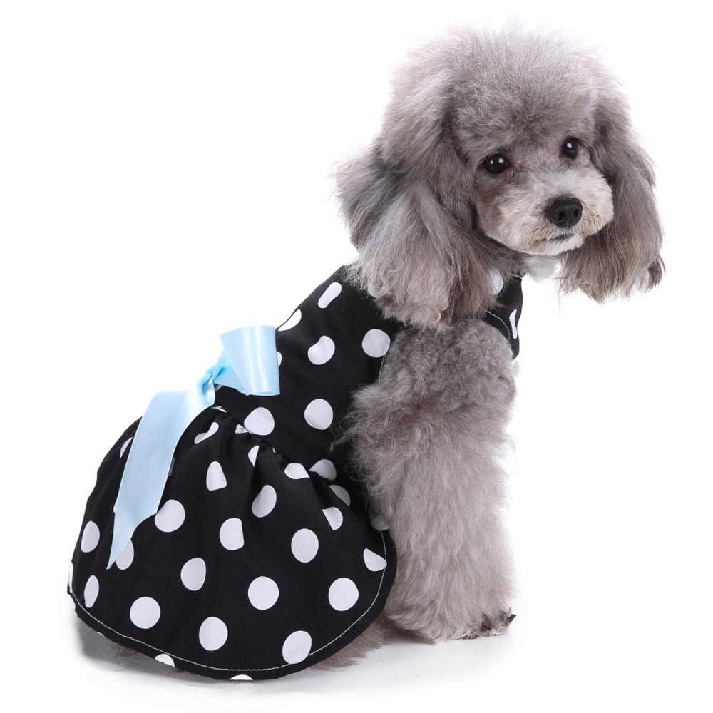 Dog Clothes Party Style Pet Cute Shirt Dress Coat Costume Outfit For Small Puppy 5
