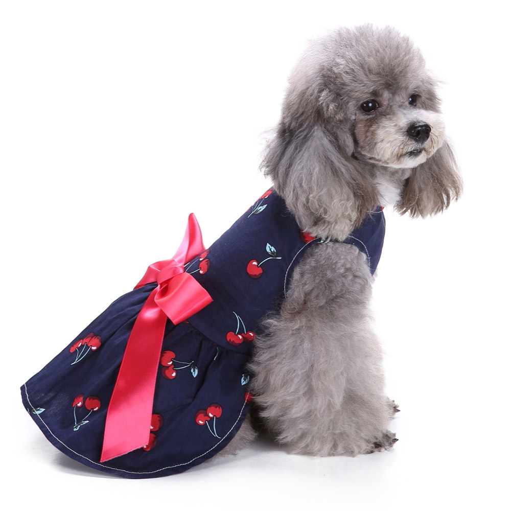 Dog Clothes Party Style Pet Cute Shirt Dress Coat Costume Outfit For Small Puppy 3