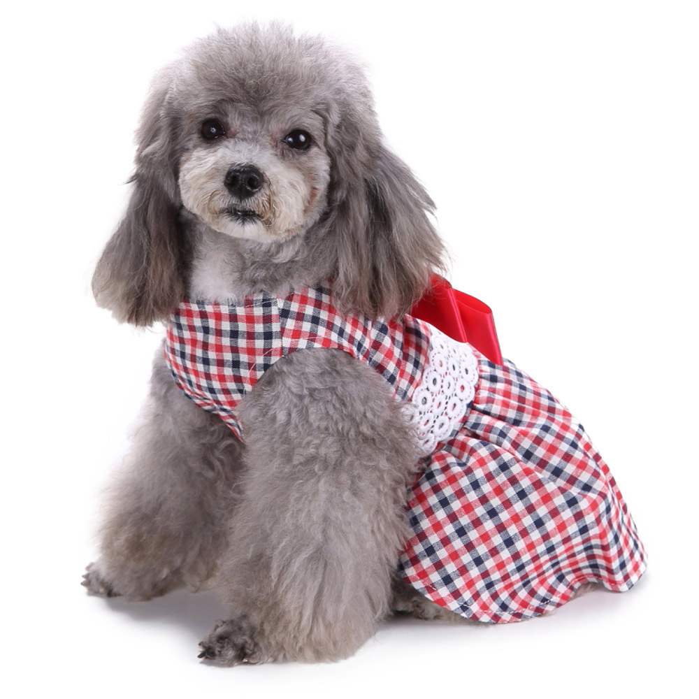 Dog Clothes Party Style Pet Cute Shirt Dress Coat Costume Outfit For Small Puppy 6