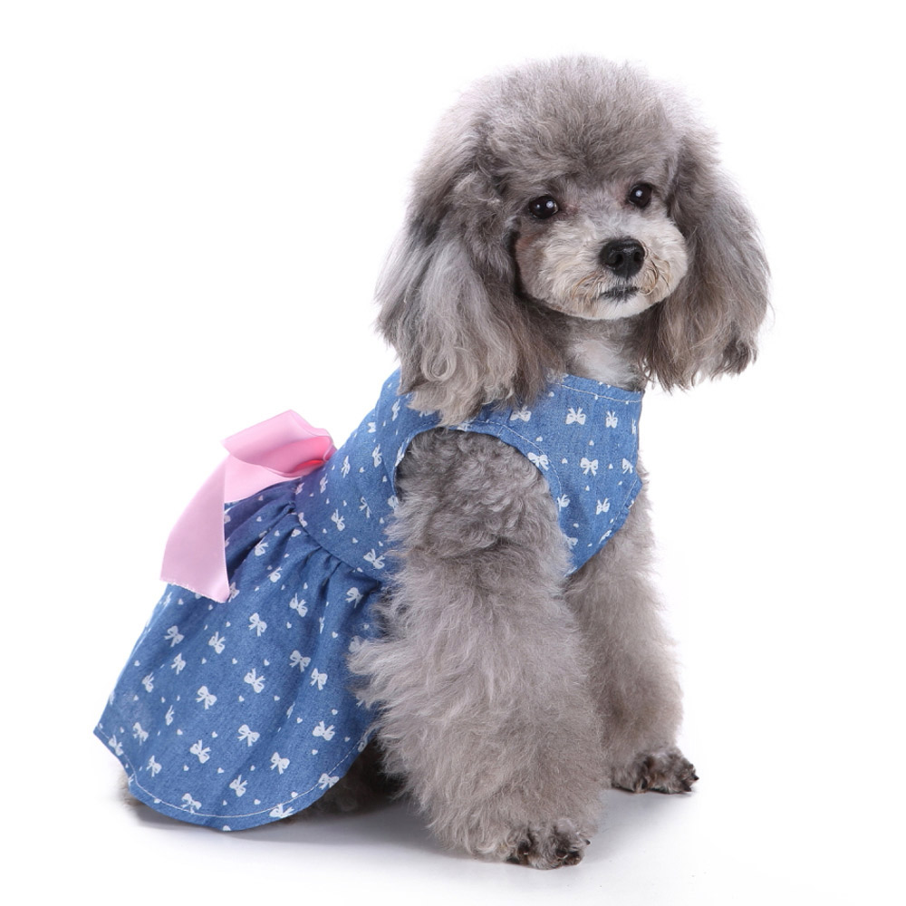 Pet Clothes Puppy Tshirt Adorable Dog Dresses Small Dogs Shirt Printed Costume 10